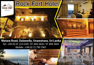 Rock Fort Hotel Unawatuna Sri Lanka